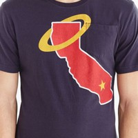 Los Angeles Angels Pocket Tee- Navy