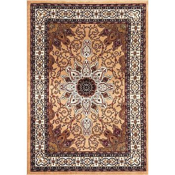 1053 Gold Isfahan Oriental Area Rugs