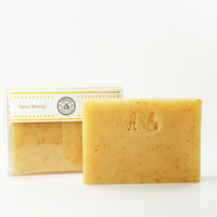 Sunny Morning Natural Soap - Citrus Herbal Invigorating Fragrance - Sunny Morning With Orange Peel
