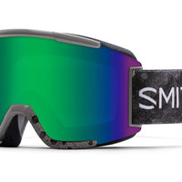 Smith - Squad Cement Bleached Goggles, Green Sol-X Mirror Lenses