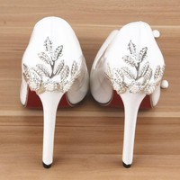 High Heels Women Pumps Glitter High Heel Shoes Woman Sexy Wedding Party Shoes Red Poin