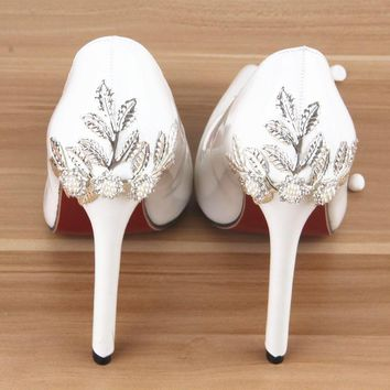 Woman High Heels Pumps Red Bottom High Heels 12CM Shoes High Heels Summer Rhinestone