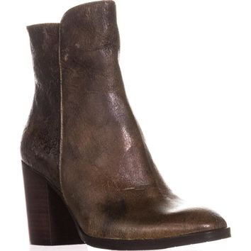 Donald J Pliner Sonoma Ankle Boots, Tobaacco Crackled Calf, 5 US