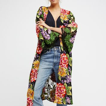 Free People Embroidered Lace Kimono