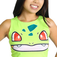 Pokemon Green Bulbasaur Women's One Size Crop Top