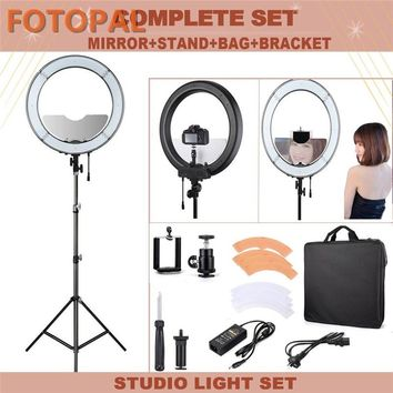 "Fotopal 18"" Annular Lamp 240 LED Photographic Lighting Dimmable Camera Photo/Studio/Phone/Video Selfie Ring Light Tripod Stand"
