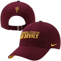 Nike Arizona State Sun Devils Dri-FIT Heritage 86 Campus Adjustable Performance Hat - Maroon