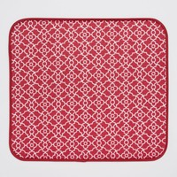 Food Network Lattice Microfiber Dish Drying Mat