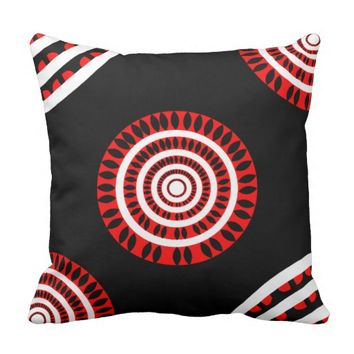 Traditional Art Throw Pillow