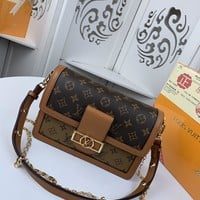 Kuyou Gb229916 Lv Louis Vuitton M44391 Monogram Handbags All Handbags Dauphine Mm 25x19x9cm