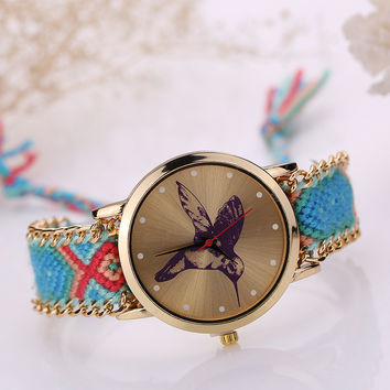Ladies Korean Handcrafts Diy Watch Bracelet Watch [8863744455]