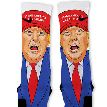 Make America Great Again Trump Custom Nike Elite Socks