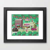 Earthbound town Framed Art Print by likelikes | Society6