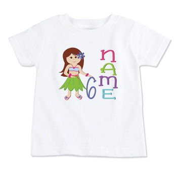 T-Shirt-Birthday T-Shirt-Party T-Shirt-Personalized-Custom T-Shirts- Party Favor-Party Decor-Hula Luau