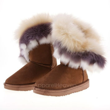 Fashion New Women's Autumn Winter Snow Boots Ankle Boots Warm Synthetic Fur Shoes 3 Colors AP = 1932895428