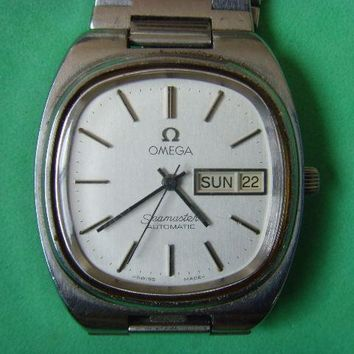 Vintage Swiss Omega 1020 seamaster D&D 17J Automatic Watch