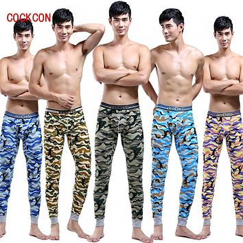 COCKCON  Men's Pattern Printed Soft Long Johns Thermal Pants Cotton Underwear S M L XL New