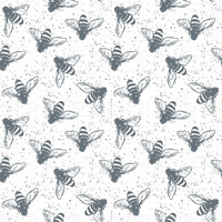 Grunge Bees Removable Wallpaper