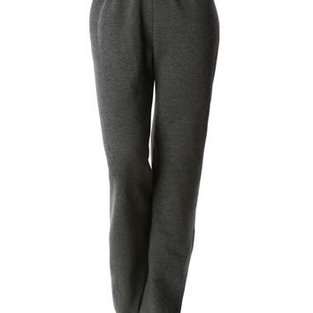 LE3NO PREMIUM Womens Heavy Blend Flex Fleece Jogger Sweatpants (CLEARANCE)