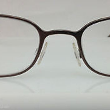 NEW AUTHENTIC GIORGIO ARMANI GA 145 COL ZK1 BROWN METAL EYEGLASSES FRAME 52MM O
