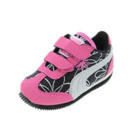 Puma Whirlwind Swirl Metallic Toddle Girls Athletic