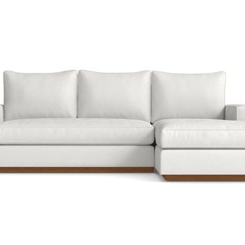 Harper Reversible Chaise Sofa in SNOWFALL - CLEARANCE