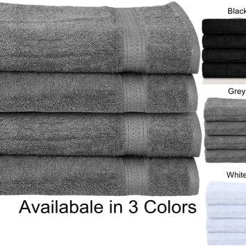 "Premium Cotton Large Hand Towels ( 16""x30"" ) Heavy Weight 5Lb/Dz -Highly Absorbent Multipurpose Use for Bath, Hand, Face, Gym and Spa"