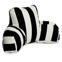Black Vertical Stripe Reading Pillow