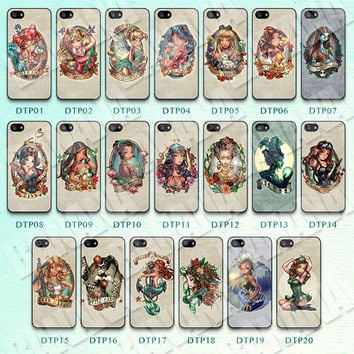 Disney, Tattoo, Princess, iPhone 5 case, iPhone 5S case, iPhone 5c case, Phone case, iPhone 4 Case, iPhone 4S Case, Phone Skin, DTP01