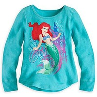 Ariel Long Sleeve Thermal Tee for Girls | Disney Store