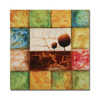 Stretched Handmade Crackle-paint Abstract painting (0192-YCF104355) - $62.74