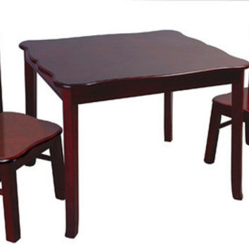 Guidecraft Classic Espresso Table & Chair - G86202