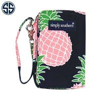 Simply Southern Preppy Collection Pineapple Wristlet 07-PINE