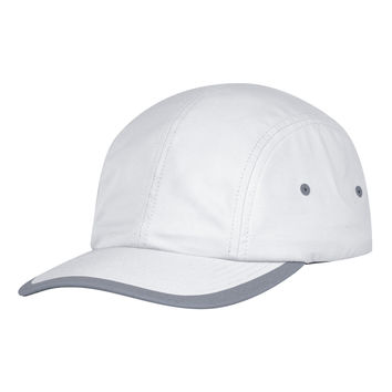Grey Poly Double Weave Clip Strapback
