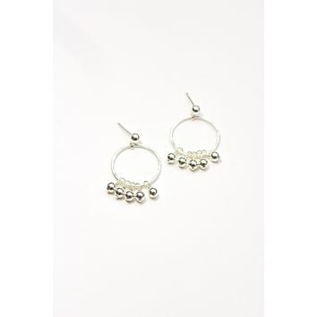 Gold Dust Hoop Earrings - Christine Elizabeth Jewelry