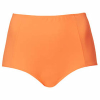 Bright Coral High-Waisted Bikini Pants - Bright Coral