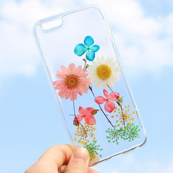 summer vibe case 100 handmade dried flowers cover for iphone 7 7plus iphone 6 6s plus gift box b61  number 1