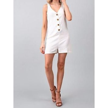Hold Still Romper | White