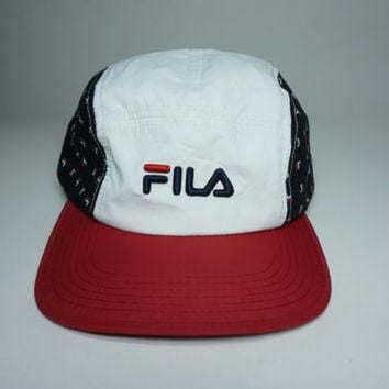 FILA 5 Panel Strapback Hat