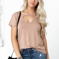 Cut Out Neck Solid Top