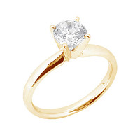 3 cts. diamond anniversary ring 4 prong set gold yellow