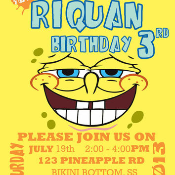 Printable Spongebob Invitations