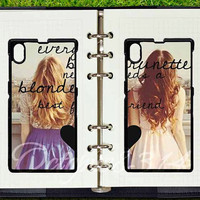 google nexus 5 case,sony xperia Z case,sony xperia Z1 case,google nexus 4 case,every brunette need a blonde Best Friend,in pair two pcs
