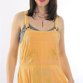 Vintage 90s Grunge Hippie Coverall apron maxi dress