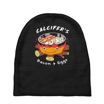 calcifer's bacon and eggs Baby Beanies