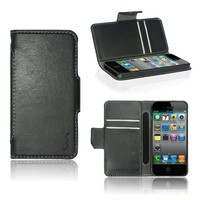 Poetic Slimbook Case for Apple iPhone 5 / iPhone 5S Black (3 Year Manufacturer Warranty From Poetic)