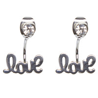 Front to Back Love Earrings | Wet Seal