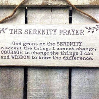 The Serenity Prayer. Inspirational Sign. Bible Verse. Religious Quote. Religious Sign. Prayer. Wood Sign.