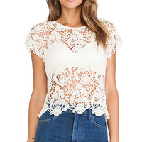Lisa Maree The Lolly Shop Top in Ivory