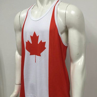 Canada Mens Shirt, Workout Tank, Workout Tank, Men Gym Shirt, Mens Gym Tank, Workout Clothes, Gym Shirt, Muscle Tee, Mens Fitness Tank